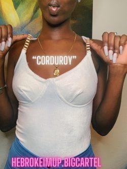 """""""Corduroy"""" bodysuit"""