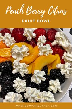 Peach Berry Citrus Fruit Bowl