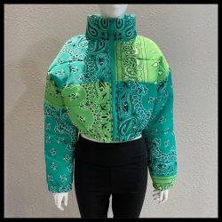 """Going Bandanas"" Bandana Paisley Puffer Jacket"