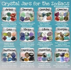 Crystal jars for zodiac signs