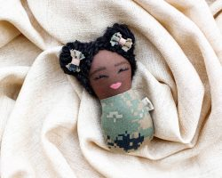 Navy Swaddle Baby Doll